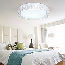 Dormitorio pequeño LED lámpara, lámpara de techo, cálido y romántico, moderno y sencillo control remoto estudio, habitación de matrimonio, sala de control remoto, Lámparas y farolillos,45cm- Luz cálida