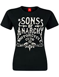 Sons Of Anarchy SOA Motorcycle Club Girl Camiseta Black