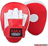 Red Focus Pads Rex Leather Pair