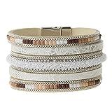 Best Cadeaux personnalisés Wraps main - JOYMIAO Cuir Wrap Bracelet Femmes Cuff Tressé Bracelet Review