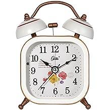 Lozse Despertador silencio perezoso campanas relojes estudiante niños dormitorio relojes