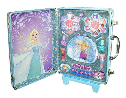 Markwins Disney Frozen Die Eiskönigin Geschenk-Set, 1er Pack (Lipgloss, Nagellacke, Ring, Haargummis, Applikatoren, Zehenspreizer, Papier-Nagelfeile, Aufkleber)