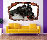 3D Wandtattoo Zug Lokomotive Dampflok Bild Eisenbahn selbstklebend Wandbild sticker Wohnzimmer Wand Aufkleber 11F557, Wandbild Größe F:ca. 97cmx57cm