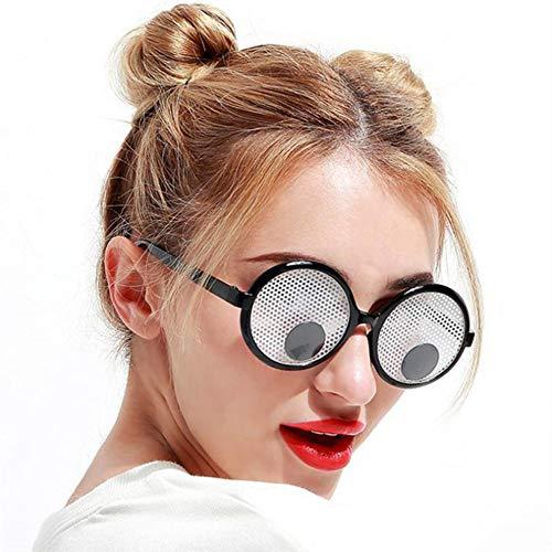 Unbekannt Neue Partei Cosplay Kostüm Lustige Googly Augen Brille Schütteln Augen Partei Gläser und Spielzeug für Halloween Party Dekoration (Lustige Neue Kostüm)