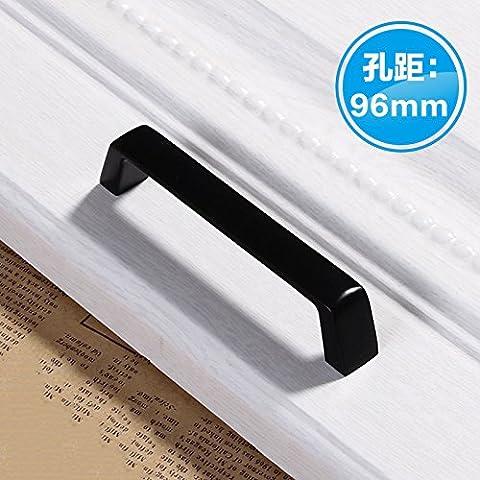 DaMonicv Türklinken American cabinet shoe cabinet black matte long clothing cabinet door modern simple furniture hardware?96 Pitch