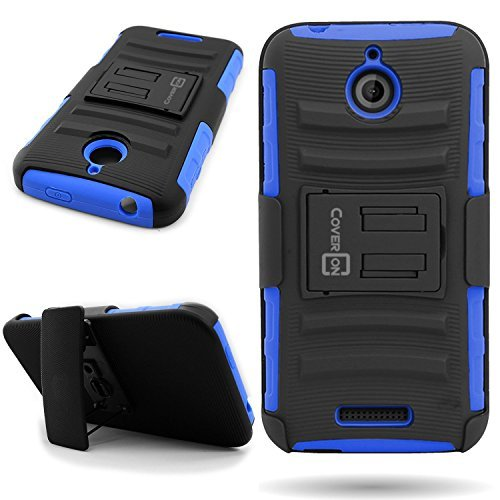 HTC Desire 510 Holster Case (Blue / Black) CoverON Protective Belt Clip Kickstand Phone Cover for HTC Desire 510