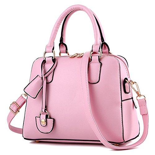 fanhappygo Fashion Retro Leder Stereotypien clutch Abendtaschen Damen Schulterbeutel Umh?ngetaschen a set rosa