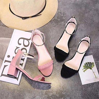 LvYuan Da donna Sandali Tessuto Primavera Estate Footing Basso Nero Rosa 2,5 - 4,5 cm blushing pink
