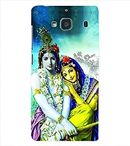 ColourCraft Lord Radha Krishna Back Case Cover for XIAOMI REDMI 2S