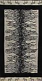 Telo Mare Zebrato 100% Cotone Spugna Jaquard 90x165 cm Telo Spiaggia