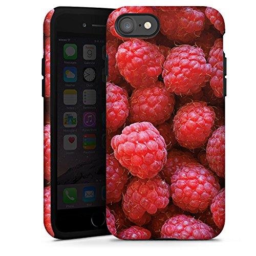Apple iPhone 5c Silikon Hülle Case Schutzhülle Himbeere Raspberry Sommer Tough Case glänzend