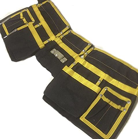 Ardisle Double Tool Belt Heavy Duty Pocket Carpenter Builders Nails Pouch Holder Hammer