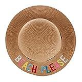 Sanahy Strohhut Sonnenhut Sommerhut Strandhut für Baby Mädchen Kappenumfang von etwa Kinder Mächen Strohhut Sommer Blumen Sonnenhut UV Schutz