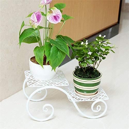 IU Desert Rose Meubles de Salon Modernes Stand de Fleur de Fer créatif, Petit présentoir de Fleur de Plante de Pot de Fleur pour Windowsill Office de Balcon (Couleur: Noir) (Couleur : White)