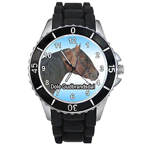 cheval-dole-gudbrandsdal-montre-unisex-bracelet-silicone-noir