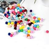 DAHI Pompons ca.2000stk kleine Bommeln 10mm Pom bälle Flauschigen Plüsch Bälle Mini Pom Pom Set zum Basteln DIY Kreative Handwerk(2000stk)