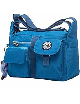 Crossbody Taschen Damen Wasserdichte Nylon Messengertaschen Umhängetasche Schultertaschen Casual Handtasche Handtaschen...