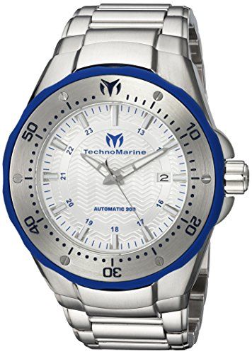 Technomarine Men's 'Manta' Automatic Stainless Steel Casual Watch, Color Silver-Toned (Model: TM-215092)