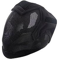 V6Valla de malla de acero de alta calidad de Cosplay Máscara Full Cover Face Protectora Táctica Militar Máscara de paintball