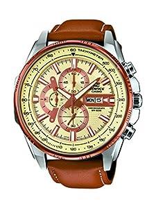 Casio EFR-549L-7AVUEF - Reloj de pulsera hombre, Cuero, color Marrón de Casio
