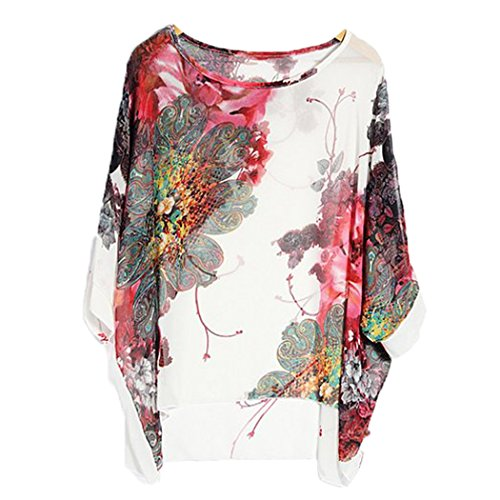 Bohemian Hippie Big Size Batwing Sleeve Chiffon Blouse Loose Off Shoulder Shirt