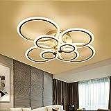 CTZS Deckenleuchte LED Deckenleuchte Küche Lampen Living Restaurant Home Beleuchtung Acryl Schwarz Schlafzimmer Lampe Fernbedienung
