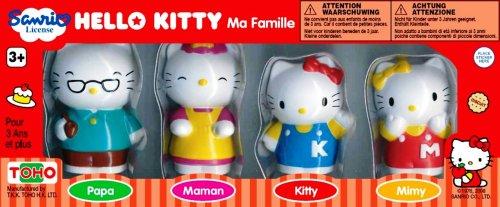 Juratoys BJ290079 Pazapa Hello Kitty and her family - Set of animal figures (4 units), Hello Kitty design