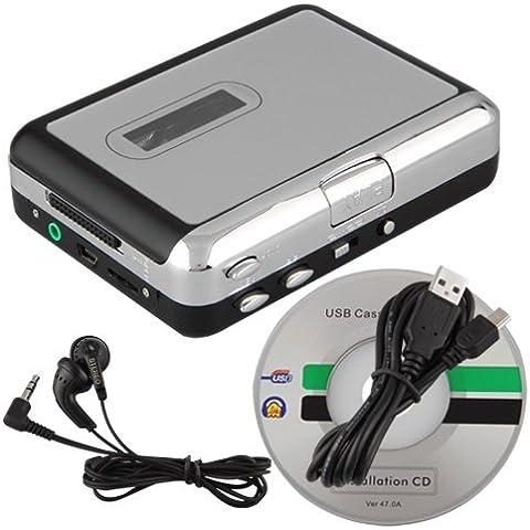 SODIAL(R) USB Audio Cassette Cinta Convertidor / Conversor A MP3 CD Reproductor PC