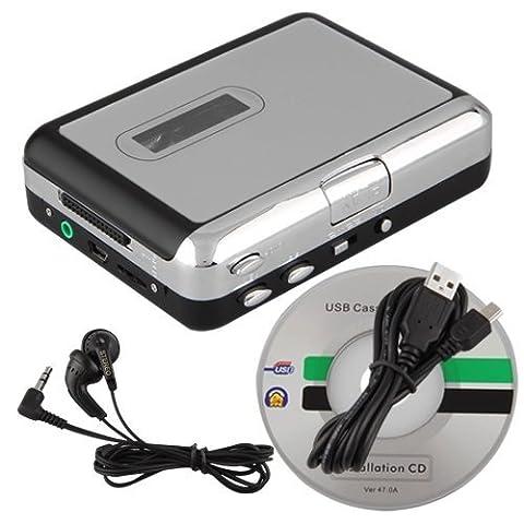 SODIAL (R)LECTEUR USB TAPE CASSETTE ADAPTATEUR EN FORMAT MP3 AUDIO