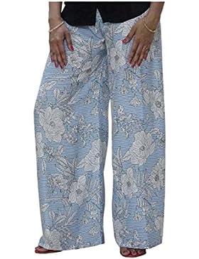 Indian Handicrfats Export DiscountZila Flared Women's White, Blue Trousers