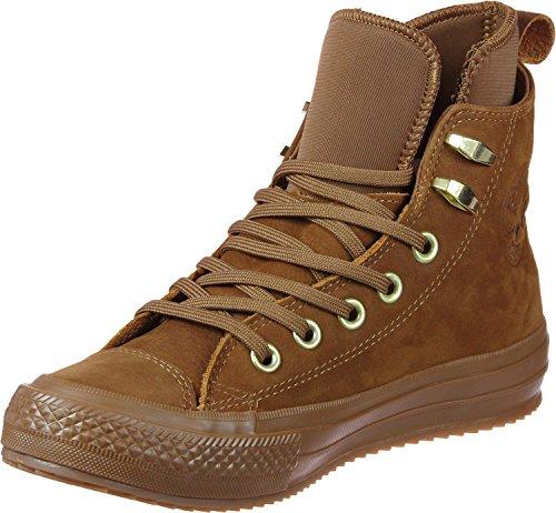 AS Salut cuir Converse Chucks 139820C Hiker2 Lea Pomme Brown Prime Chuck, Converse Schuhe Unisex Sizegroup 10:42.5