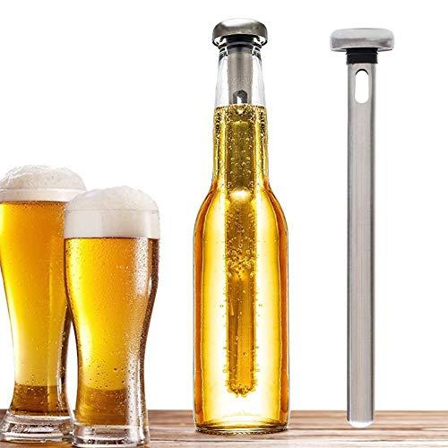 Templom SIX 2 Stück Bier Chiller Stick für Flaschen Edelstahl Chiller Stick Getränkekühler Kühlstäbchen Halten Sie in Flaschen abgefüllte Getränke kalt - Flasche Chiller