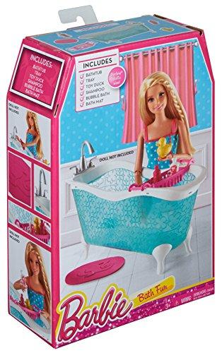 Barbie CFG69 - Arredamenti Basic, Vasca da Bagno