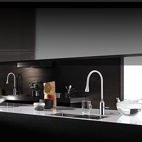 Homelody – Elegante Spültischarmatur in Tropfen-Design, 360° schwenkbar, Weiß - 5