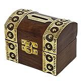 RoyaltyRoute antico ispirato Box in legno salvadanaio cassaforte Bank Salvadanaio di risparmio di denaro