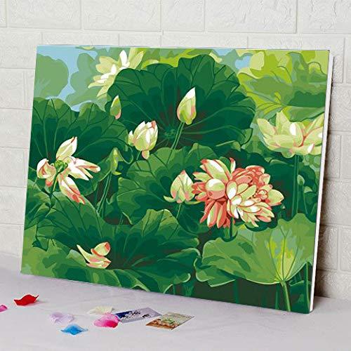 zlhcich Dynamisches Gemälde Landschaft Ölgemälde GX134 Sommer und Wind 40 * 50cm mit Rahmen -