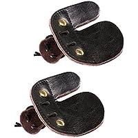 FLAMEER 2 Unidadws de Protectora de Dedos de Tiro con Arquero Pieza de Recambio Elasticó