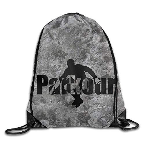 HLKPE Cool Extreme Street Sports Parkour Bag Shoulder Drawstring Backpack