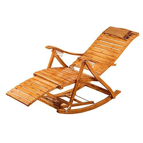 dc987032a070d4 L J Inclinable réglable avec Appui-tête,Été Rocking Chair Portable Pliante  chaises pour Patio