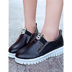 ShangYi gyht Scarpe Donna-Sneakers alla moda / Mocassini-Tempo libero / Casual-Creepers-Plateau-Finta pelle-Nero / Rosso / Bianco , red-us8 / eu39 / uk6 / cn39 , red-us8 / eu39 / uk6 / cn39