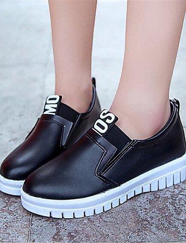 ShangYi gyht Scarpe Donna-Sneakers alla moda / Mocassini-Tempo libero / Casual-Creepers-Plateau-Finta pelle-Nero / Rosso / Bianco White