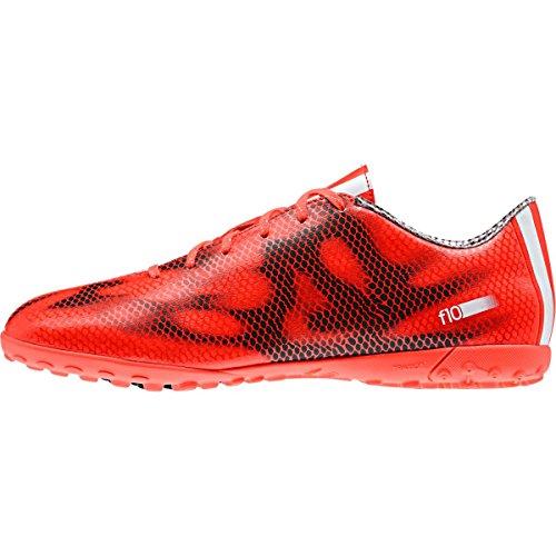 adidas - F10 Turf, Scarpe da calcio da uomo Arancione-Nero-Rosso