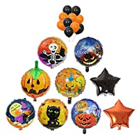 BRKURLEG 19 Pieces Halloween Foil Balloons Aluminum Mylar Helium Balloons for Weddings Birthday Graduation Party Bridal Shower Jungle Style Party Decorations...