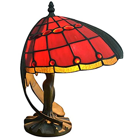 Tiffany Table Lamp Flying Women Shade Antiques Stained Glass Vintage