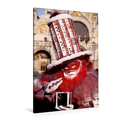 Calvendo Premium Textil-Leinwand 80 cm x 120 cm hoch, Ein Motiv aus Dem Kalender Karneval in Venedig - Phantasievolle Masken | Wandbild, Bild auf Keilrahmen. Leinwand, Leinwanddruck Orte Orte