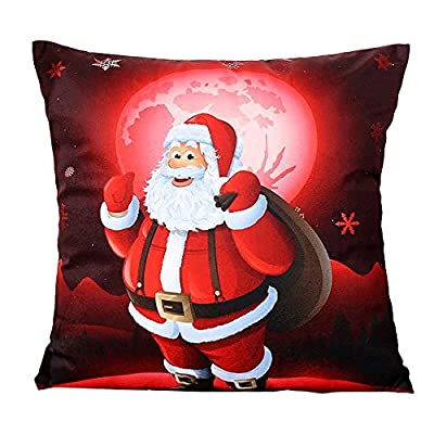 Bluester Christmas Sofa Bed Home Decoration Festival 3D Art Printing Pillow Case Cushion Cover 18*18'' - inexpensive UK light shop.
