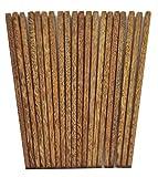 dealglad® 10Paar Natur chicken-wing Holz Chinesische Essstäbchen Gesundheit Geschirr Geschirr 24,9cm