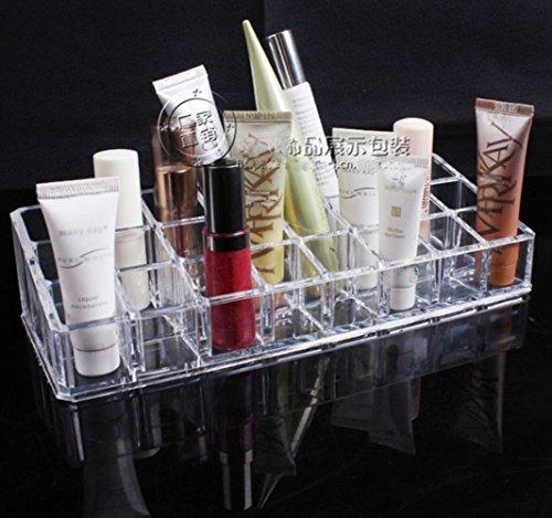 Clear Acrylic 24 Lipstick Holder présentoir Organisateur cosmétiques Cas de maquillage Fulltime®