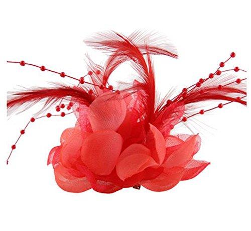 Wassermelone Bekleidung (Cheerlife Ansteckblume, Haarblume Haarschmuck Haarblüte mit Haarclip Feier Tanz Brosche Blumen Kopfschmuck Bekleidung Zubehör Wassermelone rot)