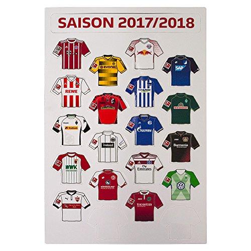Bundesliga - Magnetplatte Trikots Saison 2017/18